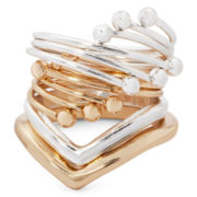 Carole Two-Tone 4-pc. Midi Ring Set