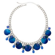 Mixit™ Silver-Tone Blue and Teal Ombré Shell Shaky Necklace