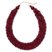Mixit™ Gold-Tone Berry Seedbead Braided Collar Necklace