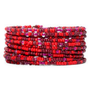 Mixit™ Silver-Tone Berry Seed Bead Coil Bracelet