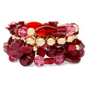 Mixit™ Gold-Tone Berry 4-pc. Stretch Bracelet Set