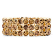 Monet® Gold-Tone Topaz-Colored Wide Stretch Bracelet
