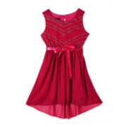 by&by Girl High-Low Bow Dress – Girls 4-6x