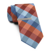 Van Heusen® Bold Buffalo Tie w/Tie Bar - Slim