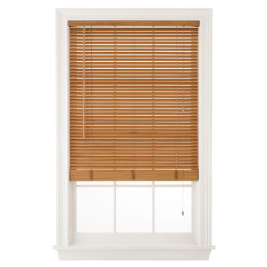 "jcpenney.com | JCPenney Home™ 1"" Natural Basswood Horizontal Blinds"