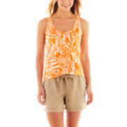 jcp™ Linen Tank Top or Shorts