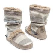 MUK LUKS® Jenna Womens Striped Boot Slippers