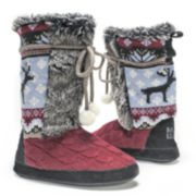 MUK LUKS® Jewel Womens Boot Slippers