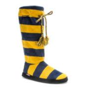 MUK LUKS® Womens Game Day Tall Boot Slippers