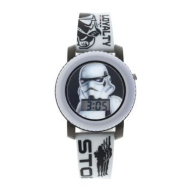 jcpenney.com | Star Wars® Stormtrooper Kids Flashing and Sound Digital Watch
