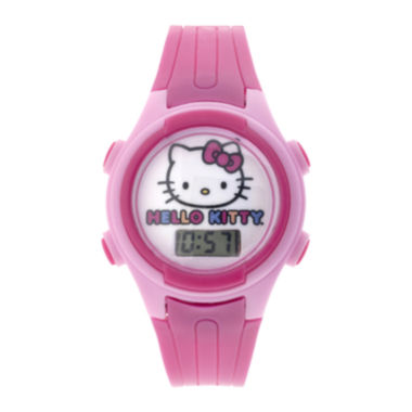 jcpenney.com | Hello Kitty® Kids Pink Plastic Strap Digital Watch