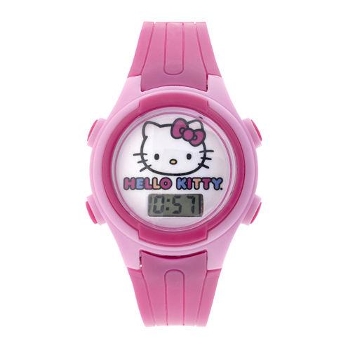 Hello Kitty® Kids Pink Plastic Strap Digital Watch