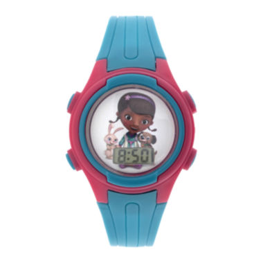 jcpenney.com | Disney Doc McStuffins Kids Blue Plastic Strap Digital Watch