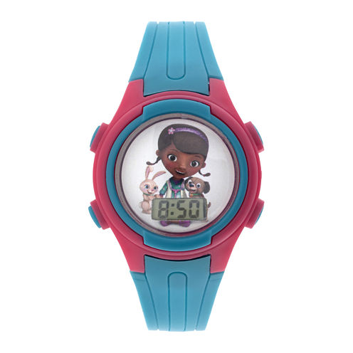 Disney Doc McStuffins Kids Blue Plastic Strap Digital Watch