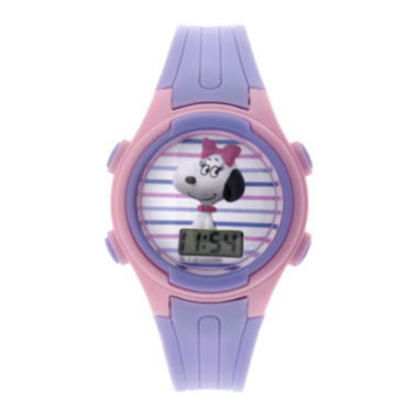 jcpenney.com | Peanuts Snoopy Kids Purple Plastic Strap Digital Watch
