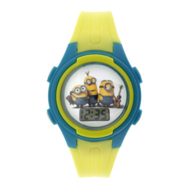 jcpenney.com | Despicable Me Minions Kids Yellow Plastic Strap Digital Watch