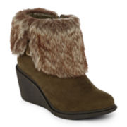 a.n.a® Maddy Womens Wedge Ankle Boots