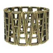 Mixit™ Antiqued Gold-Tone Open-Work Stretch Bracelet