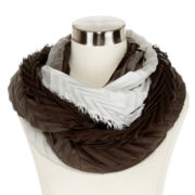 Ombré Chevron Pleated Loop Scarf