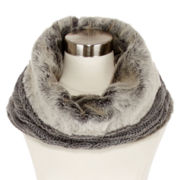 Mixit™ Faux-Fur-Lined Cable-Knit Cowlneck Scarf