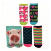 Womens 5-pk. Photoreal Low-Cut Socks