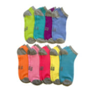 Womens 9-pk. Solid Low-Cut Socks