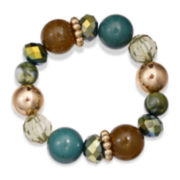 Mixit™ Olive Green and Teal Stone Stretch Bracelet