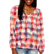 Decree® Long-Sleeve Woven Blouse