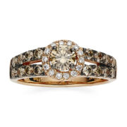 CLOSEOUT! Le Vian Chocolatier® 1-1/10 CT. T.W. White and Chocolate Diamond® Ring