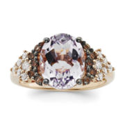 CLOSEOUT! Le Vian® Genuine Pink Amethyst, Smoky Quartz and White Topaz 14K Rose Gold Ring