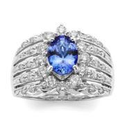 CLOSEOUT! Le Vian® Genuine Oval Tanzanite and 3/4 CT. T.W. Diamond Ring