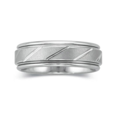 jcpenney.com |  Personalized Mens 7mm Comfort Fit Tungsten Carbide Wedding Band