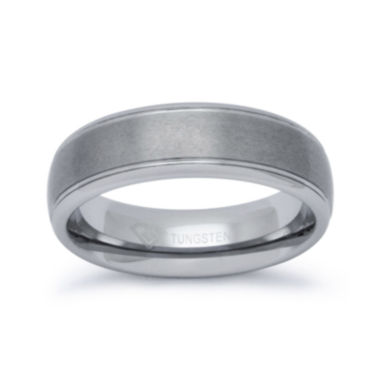 jcpenney.com |  Personalized Mens 6mm Comfort Fit Tungsten Carbide Wedding Band