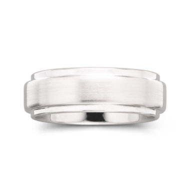 jcpenney.com |  Personalized Mens 8mm Comfort Fit Tungsten Carbide Wedding Band