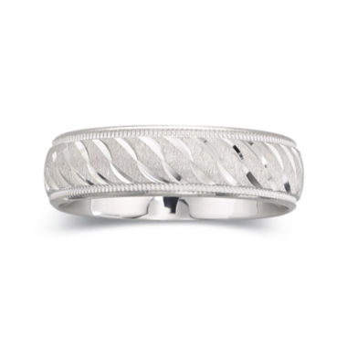 jcpenney.com |  Personalized Mens 6mm Comfort Fit Sterling Silver Wedding Band