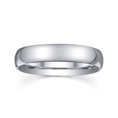 jcpenney.com |  Personalized 4mm Comfort Fit Domed Sterling Silver Wedding Band
