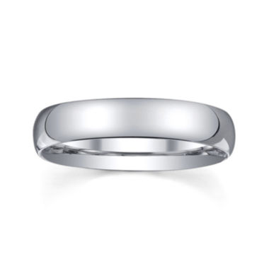 jcpenney.com |  Personalized Mens 4mm Comfort Fit Domed Sterling Silver Wedding Band
