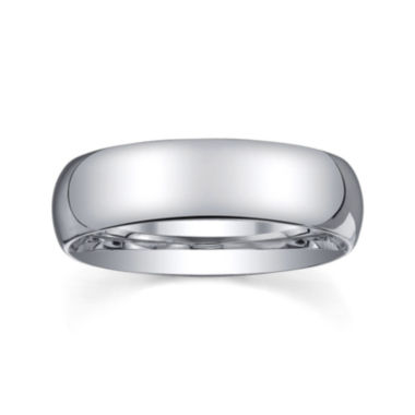 jcpenney.com |  Personalized Mens 6mm Comfort Fit Domed Sterling Silver Wedding Band