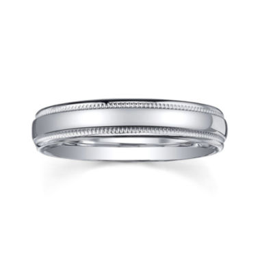 jcpenney.com |  Personalized Comfort Fit 4mm Sterling Silver Wedding Band