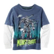 OshKosh B'Gosh® Long-Sleeve Monsterbot Graphic Tee - Preschool Boys 4-7x