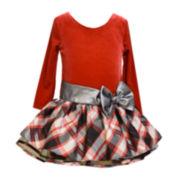 Bonnie Jean® Plaid Bow Dress - Toddler Girls 2t-4t