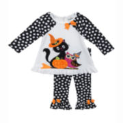 Rare Editions Halloween Top and Pants - Toddler Girls 2t-4t