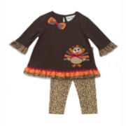 Rare Editions Thanksgiving Top and Pants - Toddler Girls 2t-4t