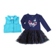 Nanette Baby Dress and Vest Set - Toddler Girls 2t-4t