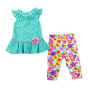 Nanette Baby Lace Top and Leggings - Toddler Girls 2t-4t
