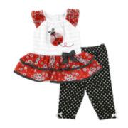 Nanette Baby Ladybug Top and Leggings - Toddler Girls 2t-4t