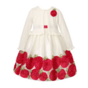American Princess Dress and Cardigan - Toddler Girls 2t-4t