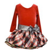 Bonnie Jean® Plaid Bow Dress - Preschool Girls 4-6x