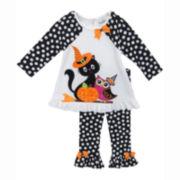 Rare Editions Halloween Top and Pants - Preschool Girls 4-6x