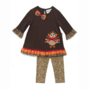 Rare Editions Thanksgiving Top and Pants - Preschool Girls 4-6x